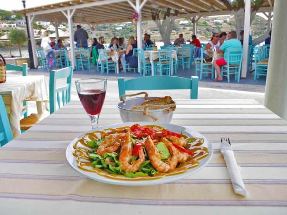 Loukia Studios and Suites Kini Syros - Fresh fish