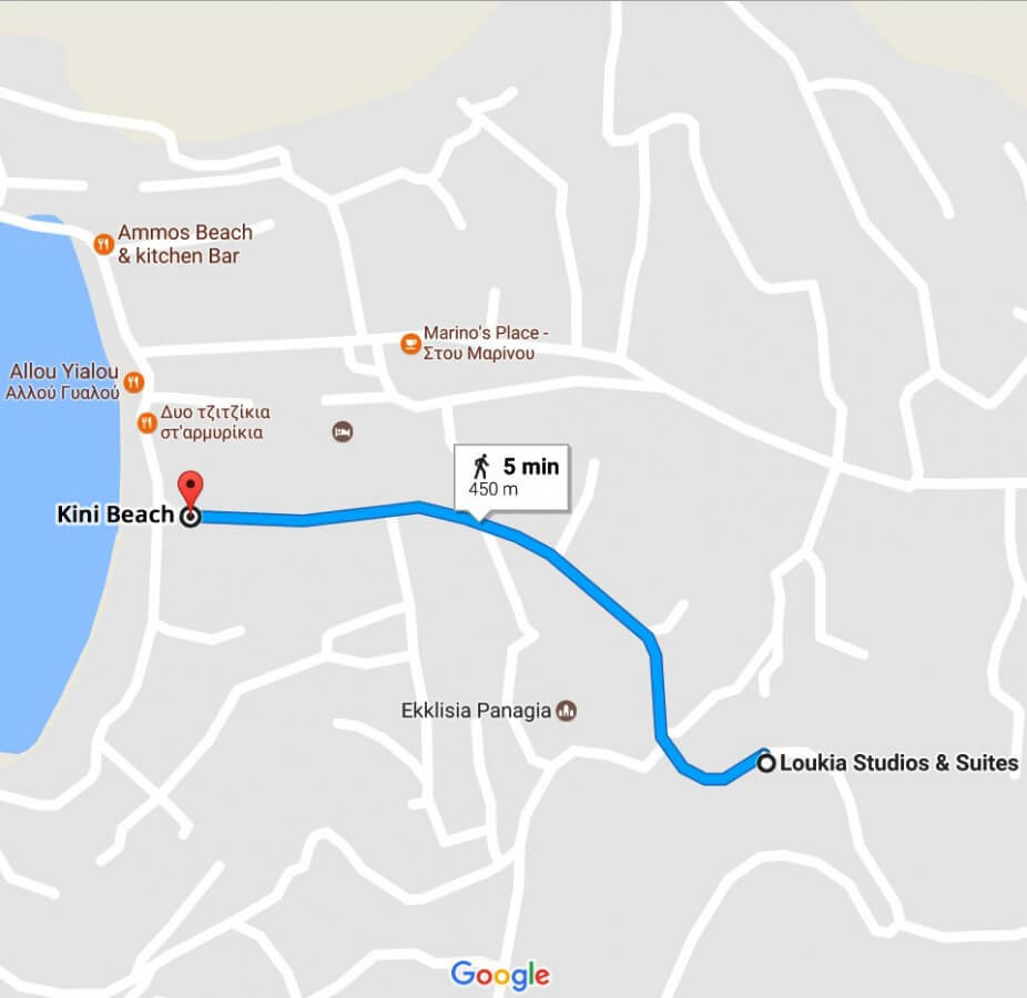 Loukia Studios and Suites Kini Syros - Map location