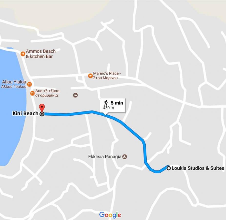 Loukia Studios and Suites Kini Syros - Map location