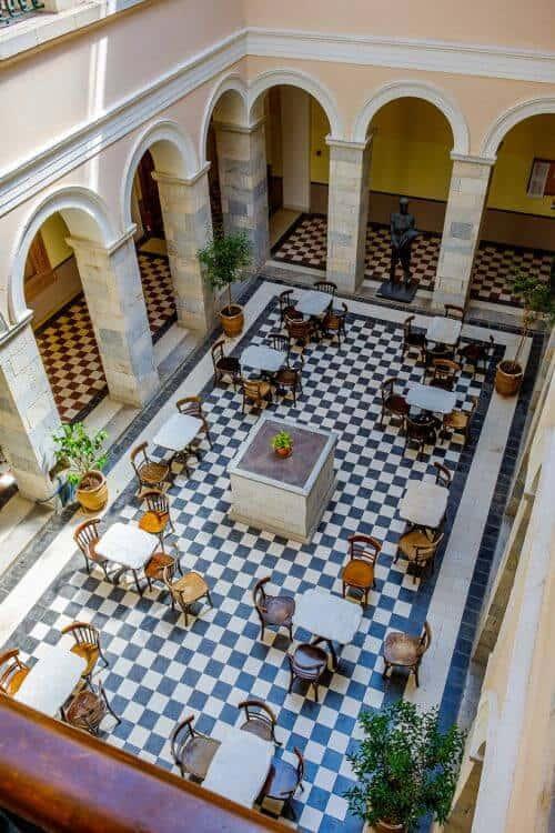 Loukia Studios and Suites Kini Syros - Inside the Town Hall of Ermoupolis on Miaouli square